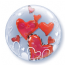 Floating Hearts Double Bubble Balloon | Free Delivery